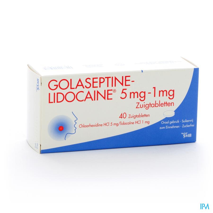 Golaseptine lidocaïne