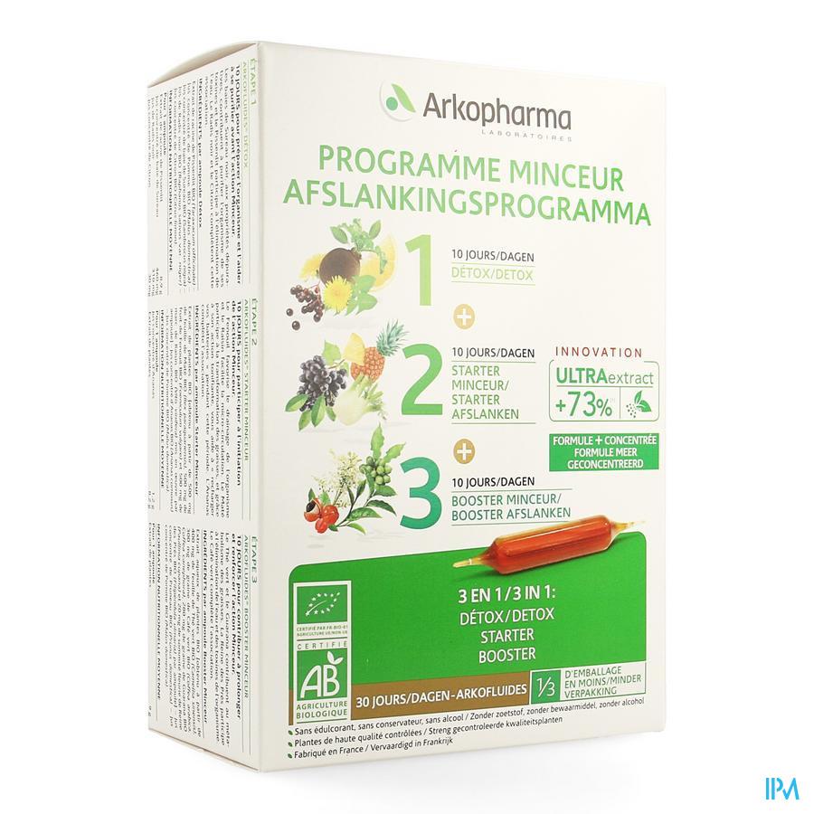 Arkofluide Afslank Programma 30 ampules