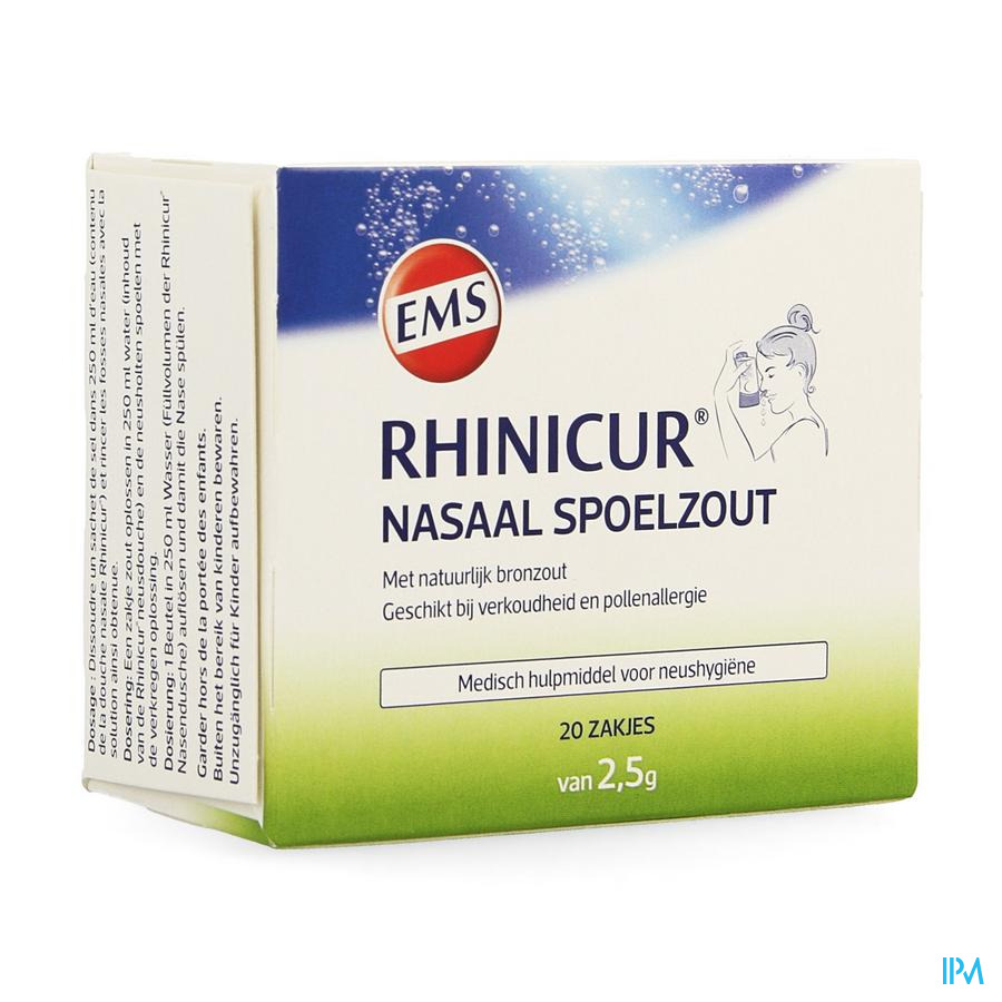 Rhinicur Neusspoelzout (Zakjes 20x2,5g)
