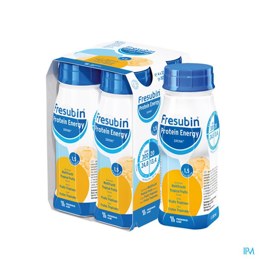 Fresubin Protein Energy Drink Tropische vruchten 4x200 ml