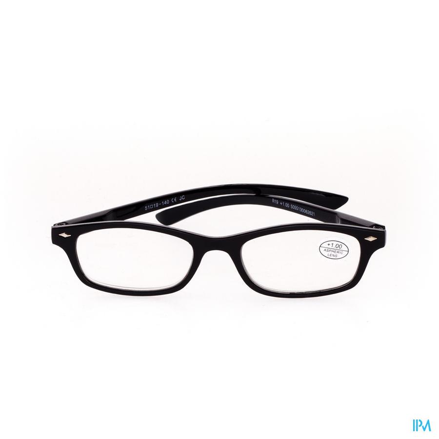 Leesbril Pharmaglasses Zwart +1,00