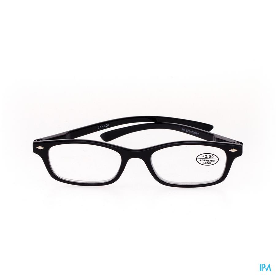 Leesbril Pharmaglasses Zwart +2,00