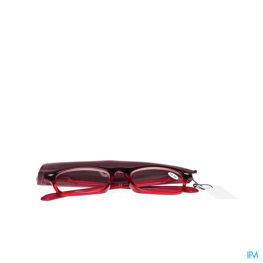 Leesbril Pharmaglasses Rood +3,50