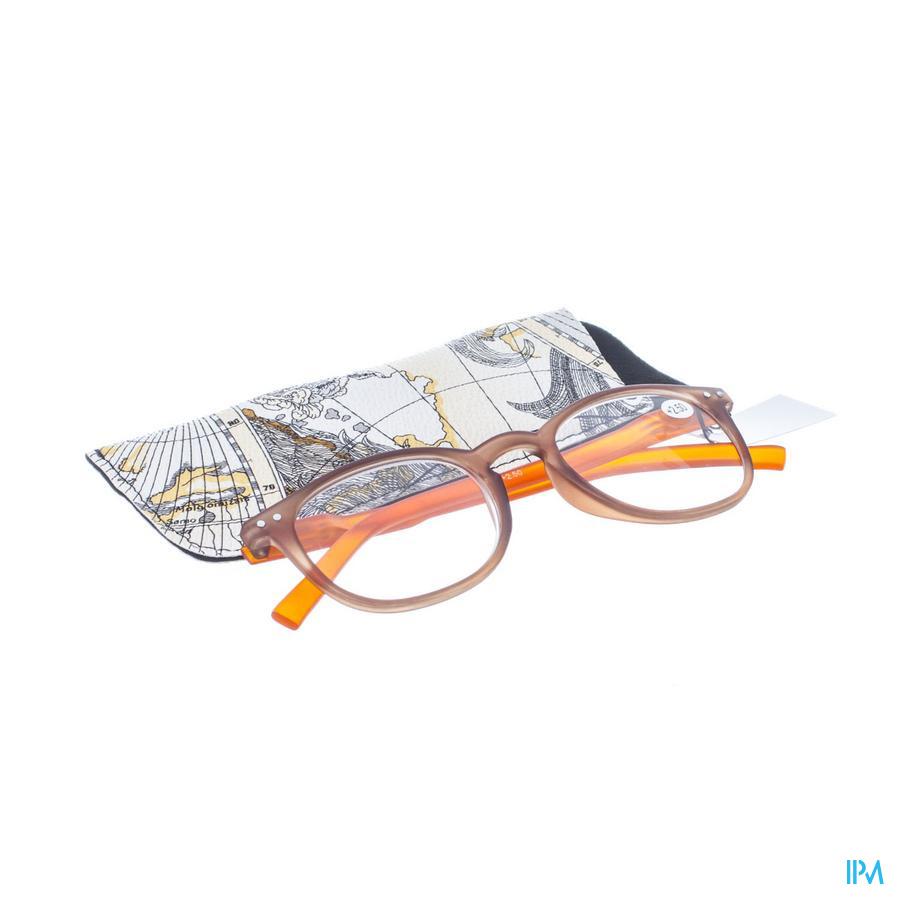 Leesbril Pharmaglasses Comp. Brown/Orange +2,50
