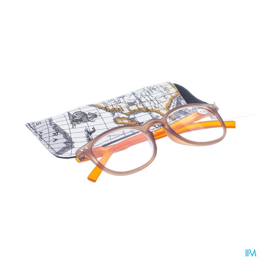 Leesbril Pharmaglasses Comp. Brown/Orange +3,50