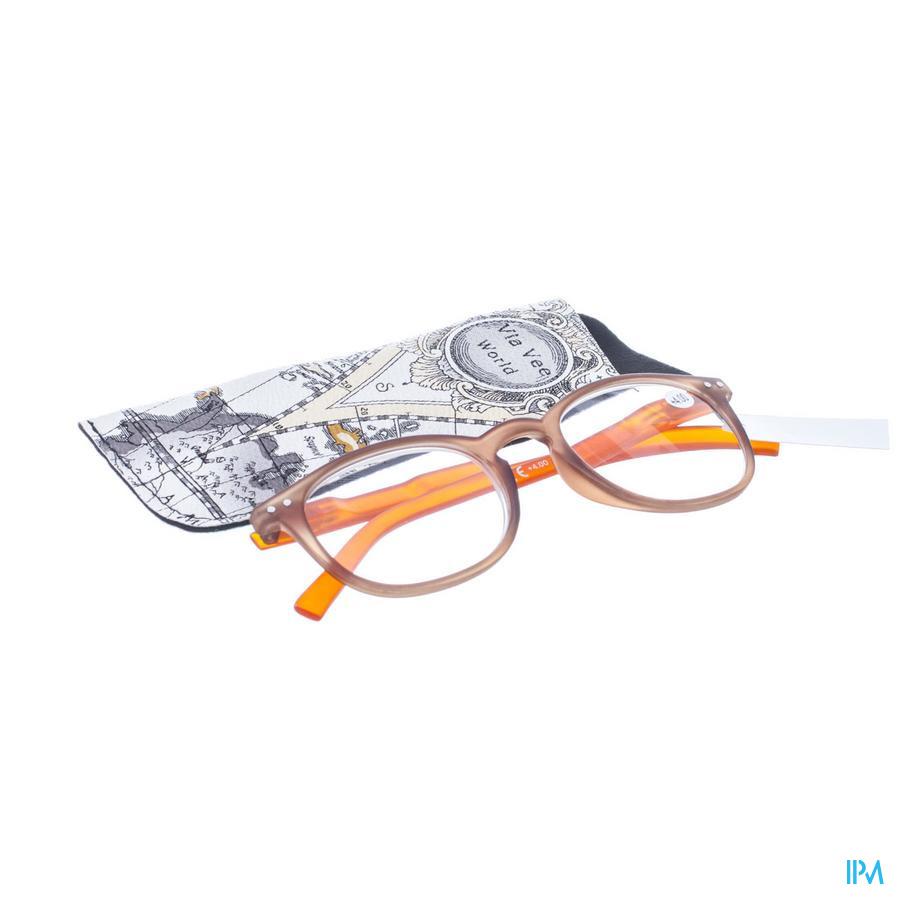 Leesbril Pharmaglasses Comp. Brown/Orange +4,00