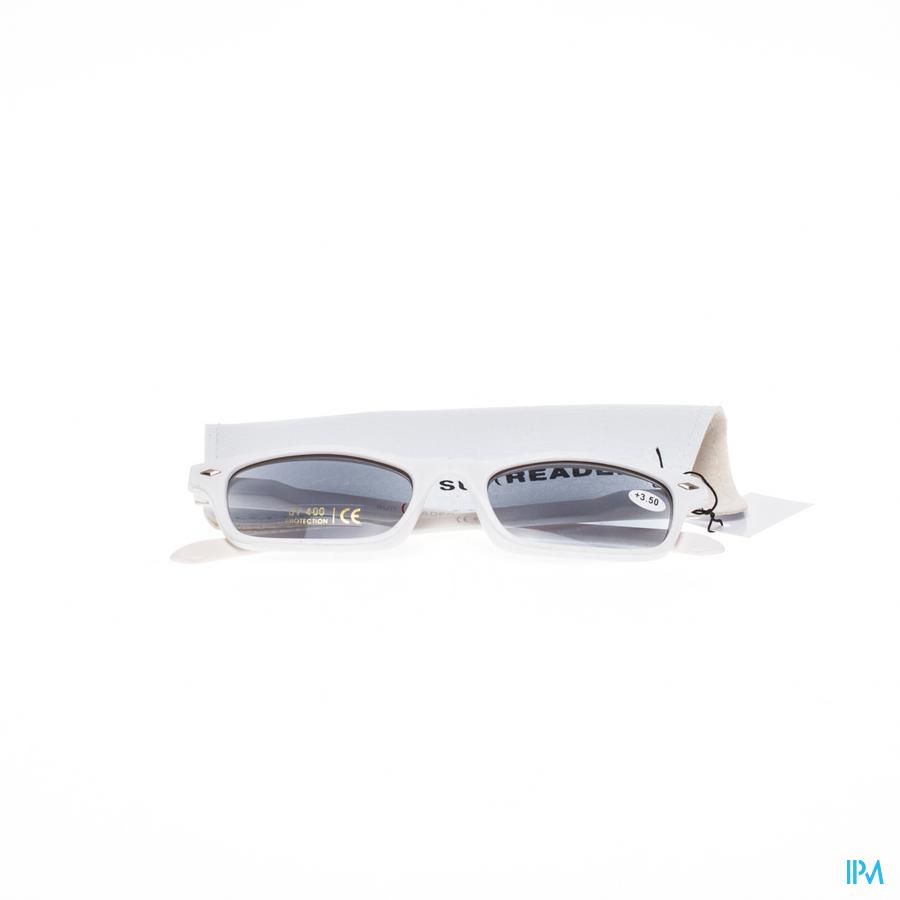 Leesbril voor zon Sunreader Wit +3,50