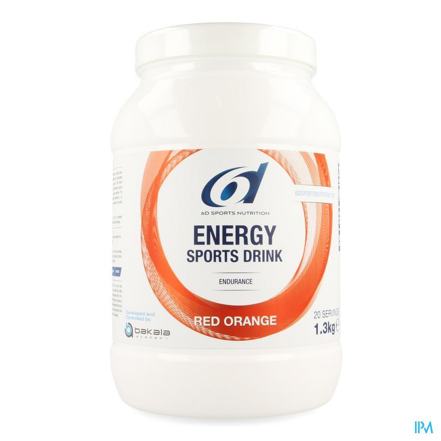 6d Sixd Energy Sports Drink Red Orange Poeder 1,3kg