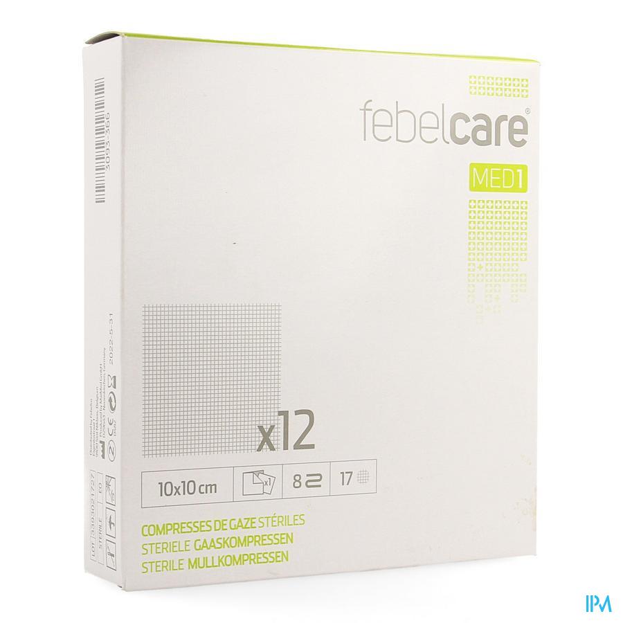 Febelcare Gaascompres steriel 10x10cm 10 stuks