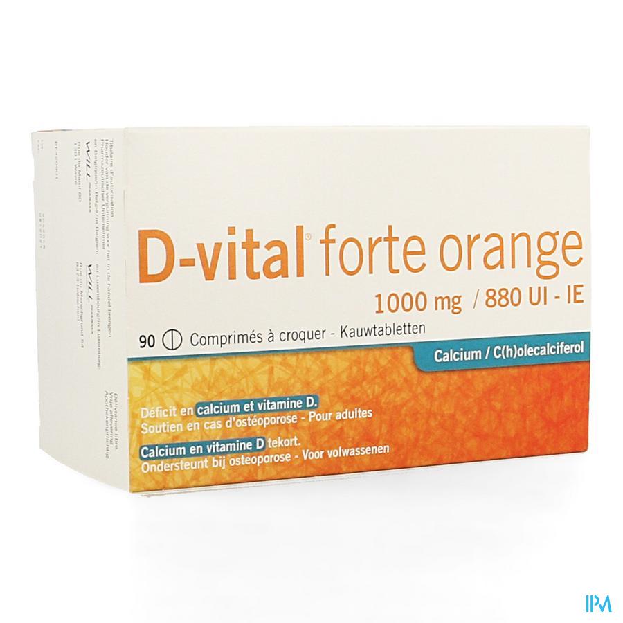 D vital Forte orange / 90 kauwtabletten