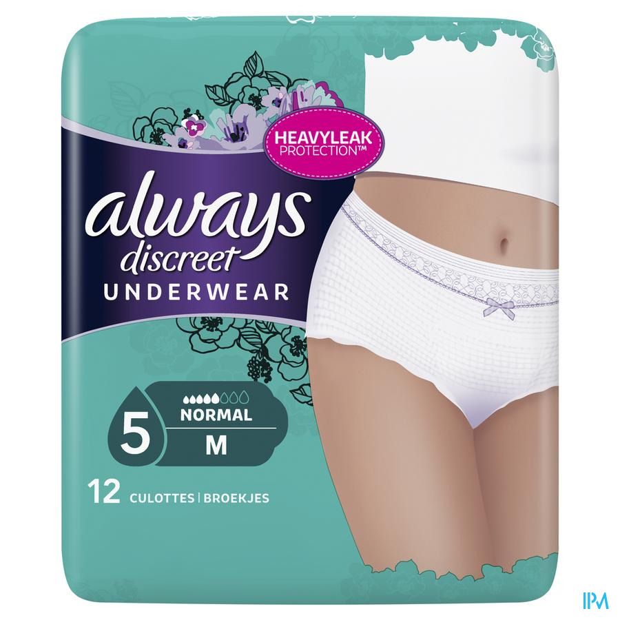 Always Discreet Incontinence Pants Medium Lage Taille