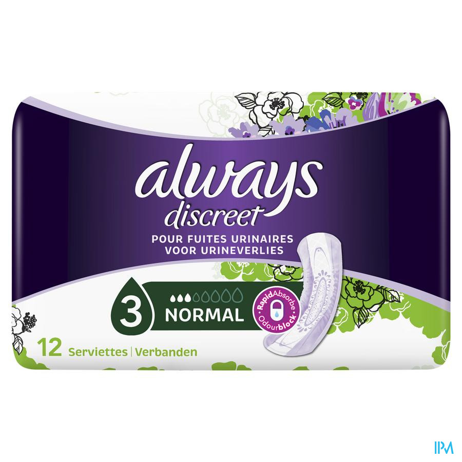 Always Discreet Incontinence Pad Normal
