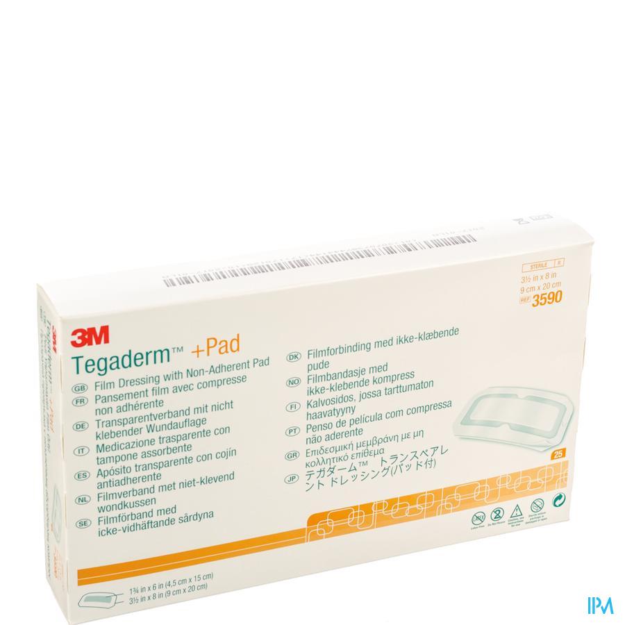 Tegaderm + Pad  Transparant  9cm x 20cm (25 stuks)