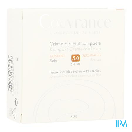 Avene Couvrance Getinte Compact Creme Comfort  Soleil 10 g