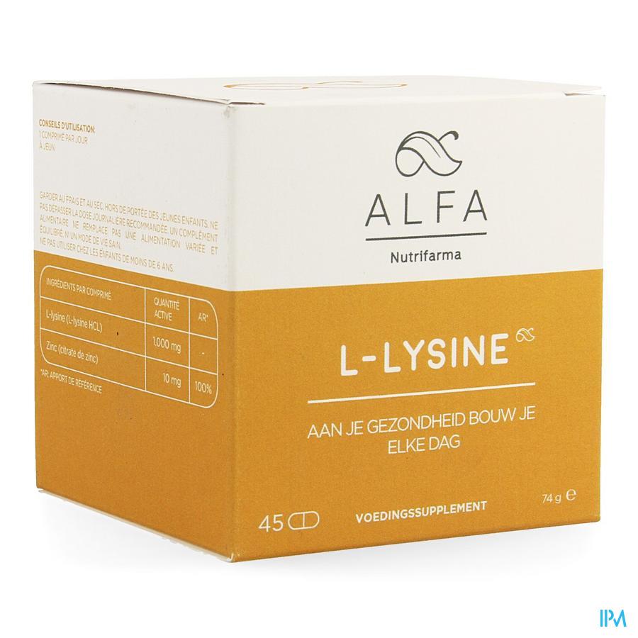 Alfa L-Lysine 45 tabletten