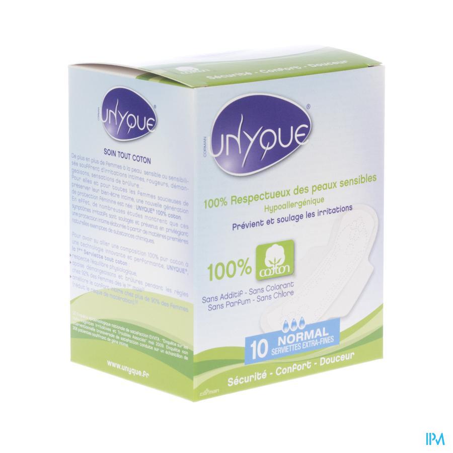 Maandverband 100% katoen Normaal Unyque ( 10 stuks)