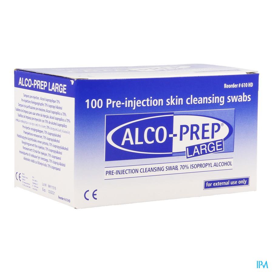 Alco-prep large (100 stuks)