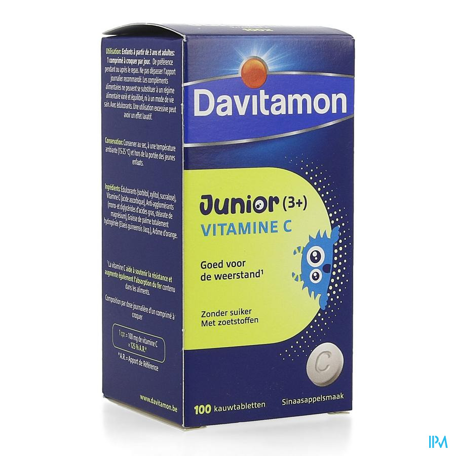 Davitamon Junior Vitamine C  100 tabletten