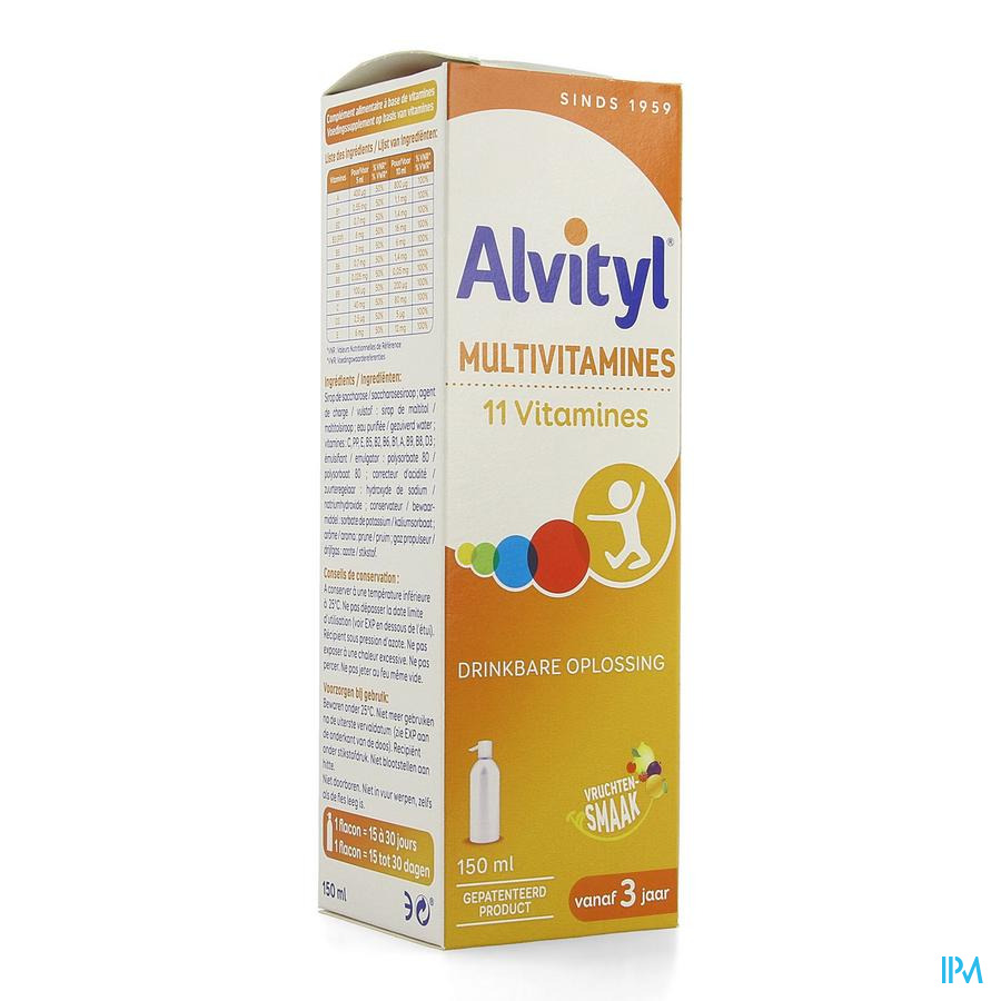 Alvityl Multivitaminen Drinkbare oplossing 150ml