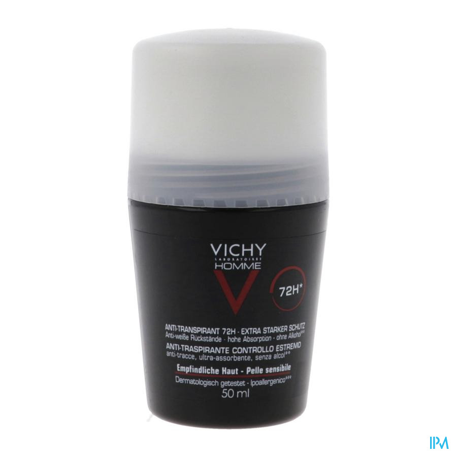 Vichy Homme Deodorant Roller Extreme controle 72u