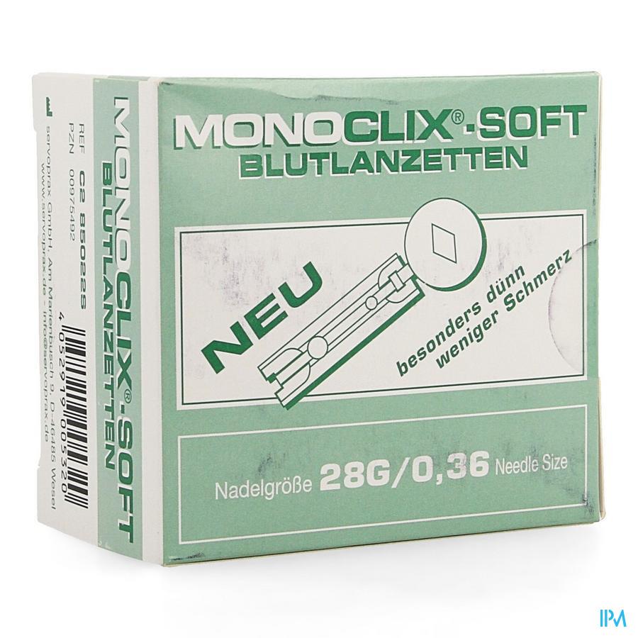 Monoclix Soft Lancet 28g