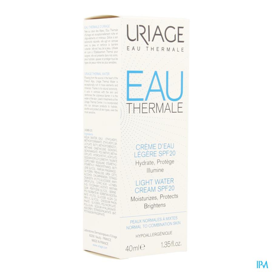 Uriage Eau Thermale Creme Licht  Ip20 (40ml)