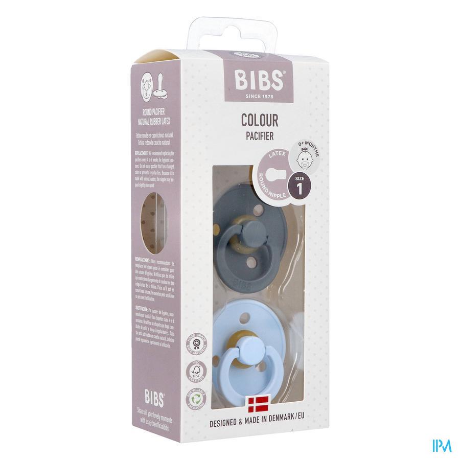 BIBS (0-6 maanden) IRON / BABY BLUE