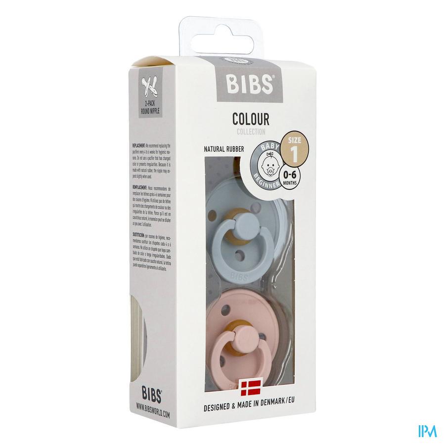 BIBS (0-6 maanden) CLOUD / BLUSH