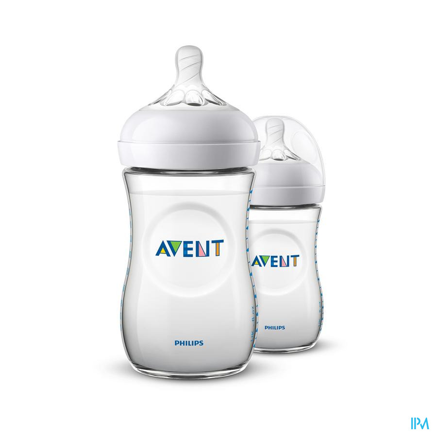 Avent Zuigfles Natural 2.0 1+ maand (2x260 ml)