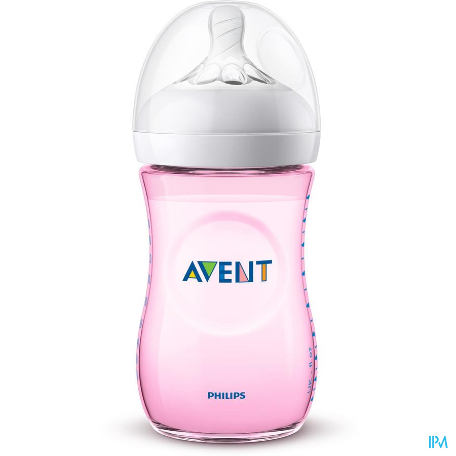 Avent Zuigfles Natural 2.0 roze (260 ml)