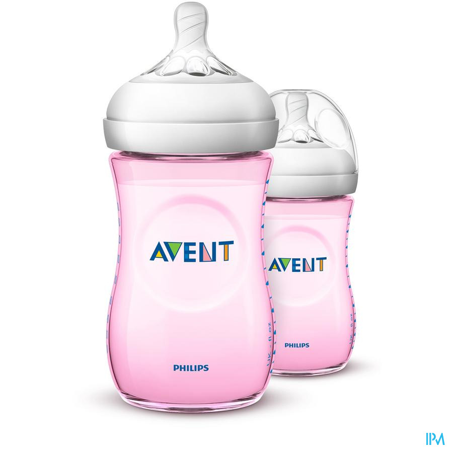 Avent Zuigfles Natural 2.0 roze (2x260 ml)