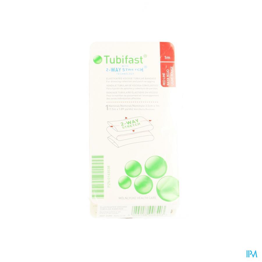 Tubifast Rood 3,5 cmx 1m