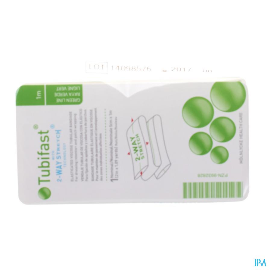 Tubifast Groen 5 cmx 1m