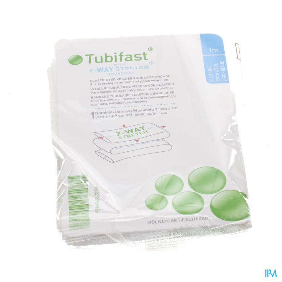 Tubifast Blauw 7,50 cmx 1m