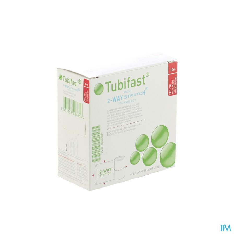 Tubifast Rood 3,5 cmx10m