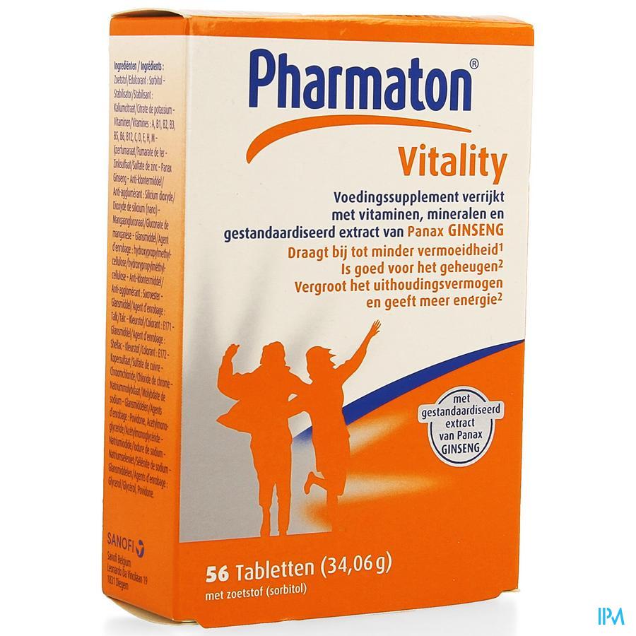 Pharmaton Vitality 56 tabletten