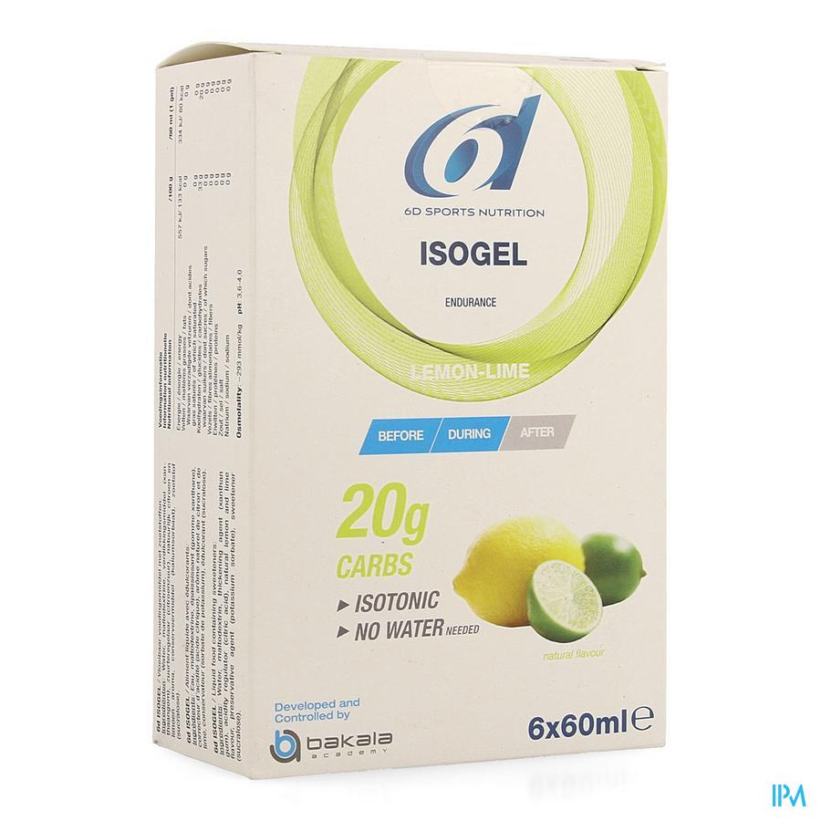6d Sixd Isogel Lemon/lime 6x60ml