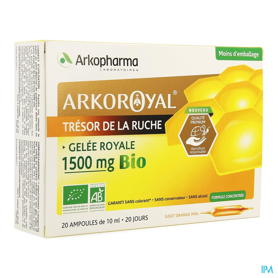 Arko Royal Koninginnebrij 1500 mg BIO /  20 ampullen