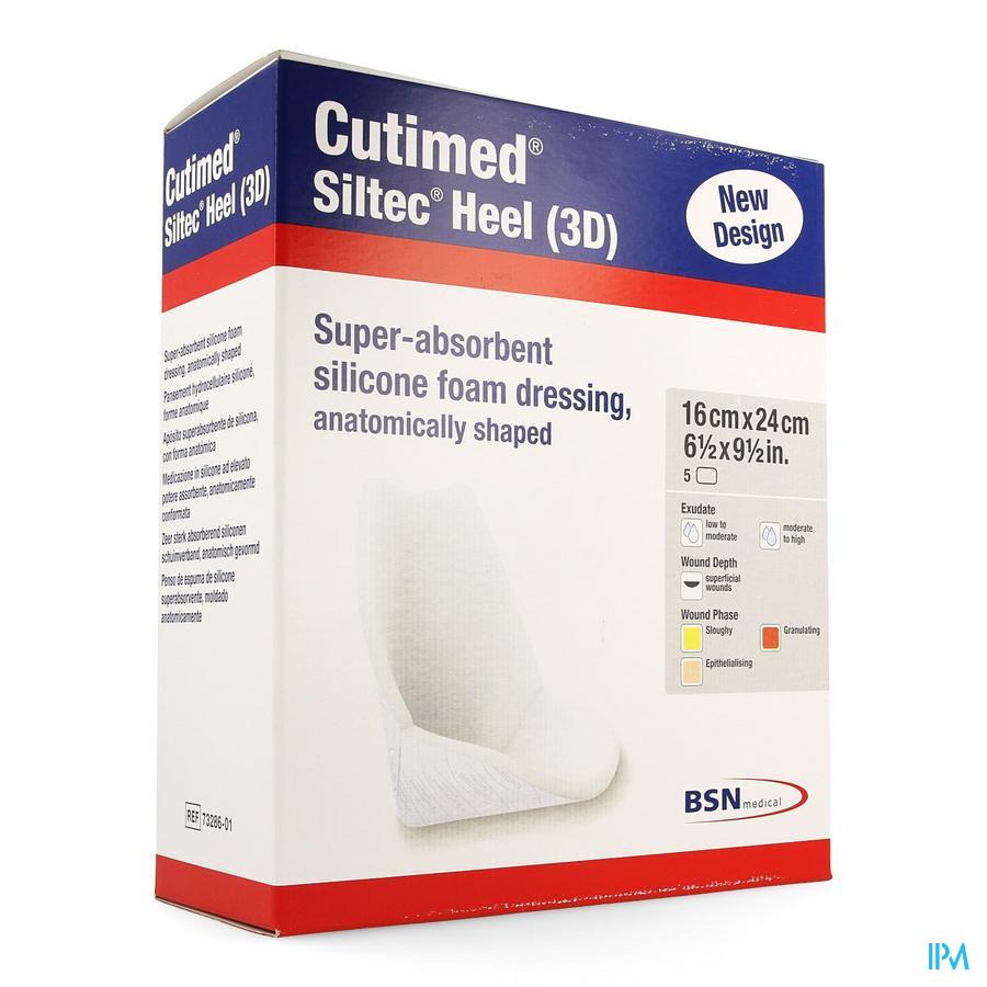 Cutimed Siltec Heel 3D (5 stuks)