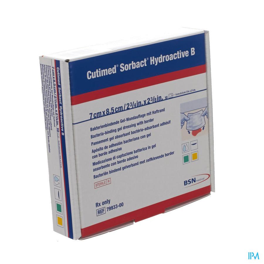 Cutimed Sorbact Hydroactive B 7x 8,5cm (10 stuks)