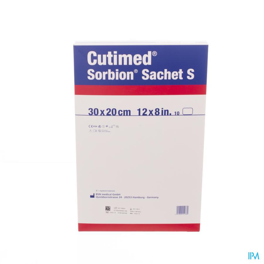 Cutimed Sorbion Zakje S 30x20cm (10 stuks)
