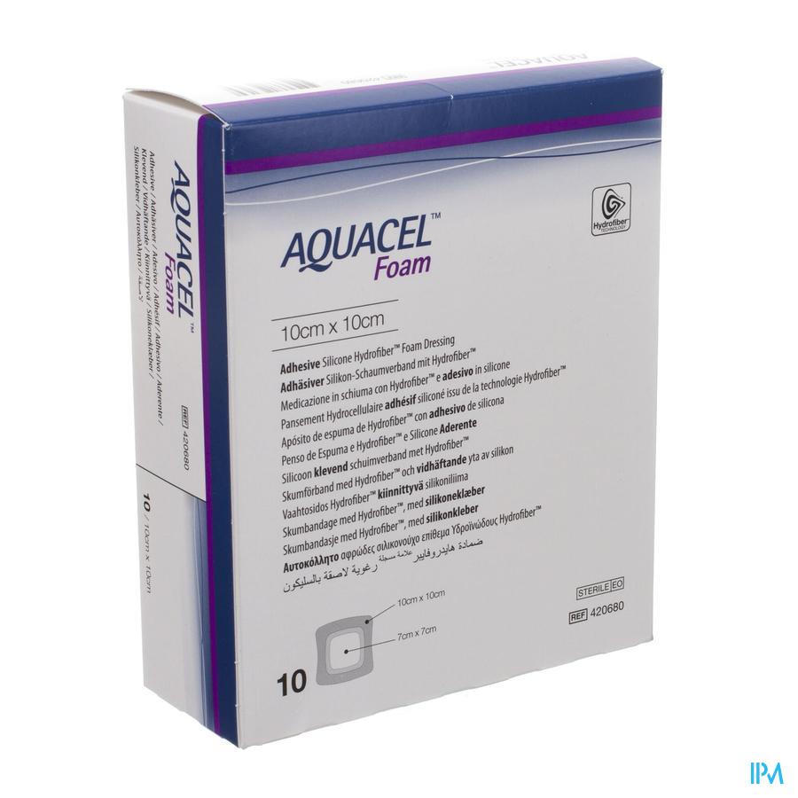 Aquacel adhesief schuimverband (10x10cm) / 10 stuks