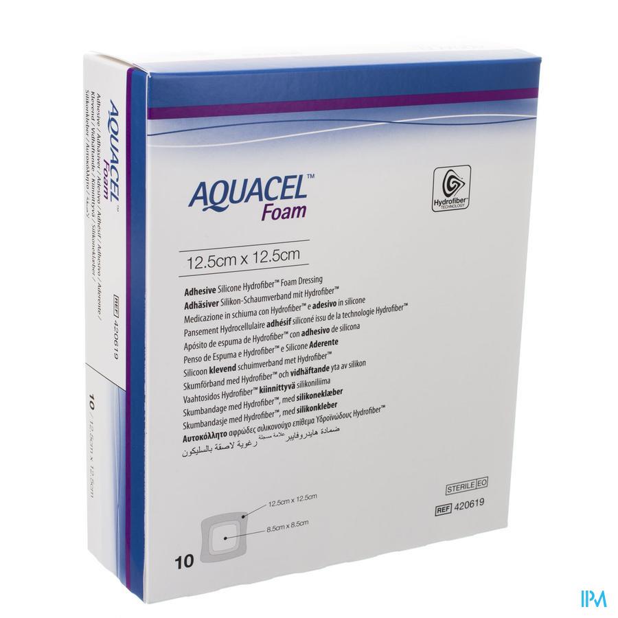 Aquacel adhesief schuimverband (12,5x12,5cm) / 10 stuks