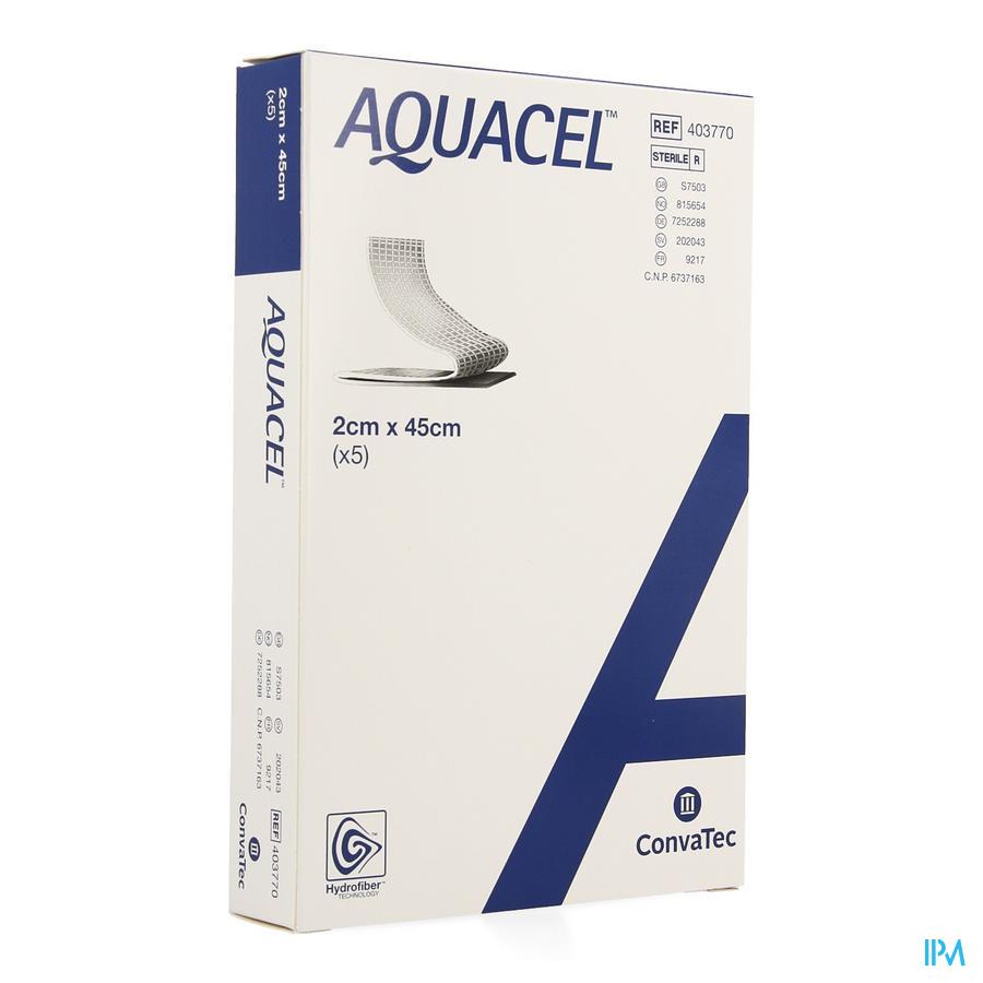 Aquacel adhesief schuimverband + versterking (2x45cm) / 5 stuks
