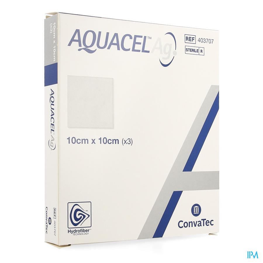 Aquacel Ag hydrofiberverband (10x10cm) / 3 stuks