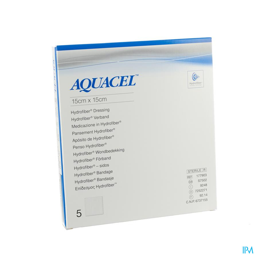 Aquacel Ag hydrofiberverband (15x15cm) / 5 stuks