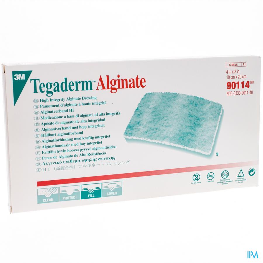 Tegaderm Alginate 10x20 cm 5 stuks