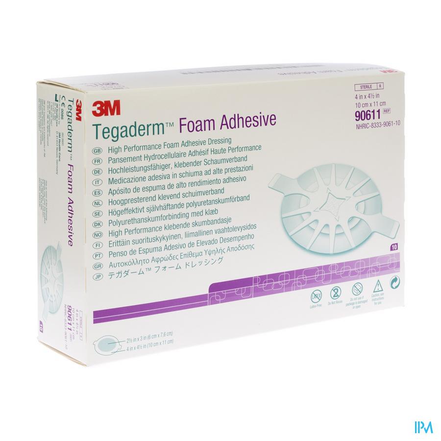 Tegaderm Foam Adhesive 10x11 cm 10 stuks