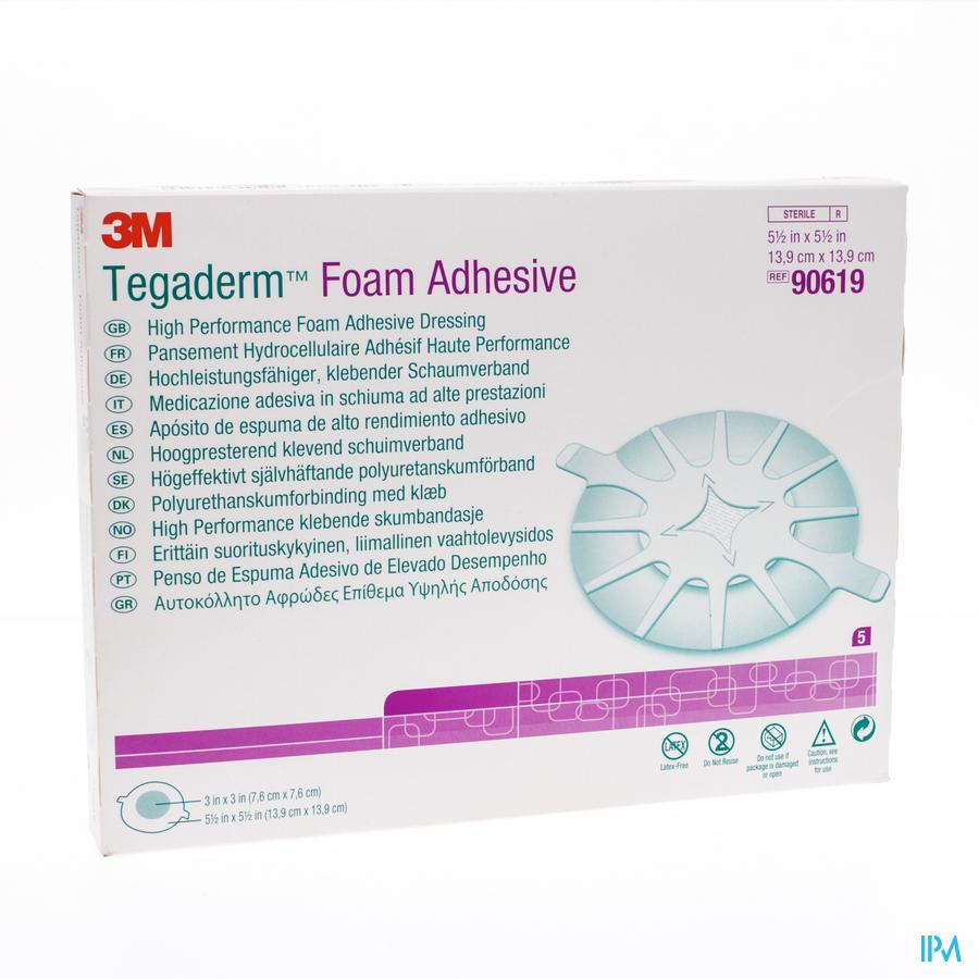 Tegaderm Foam Adhesive 14x14 cm 5 stuks