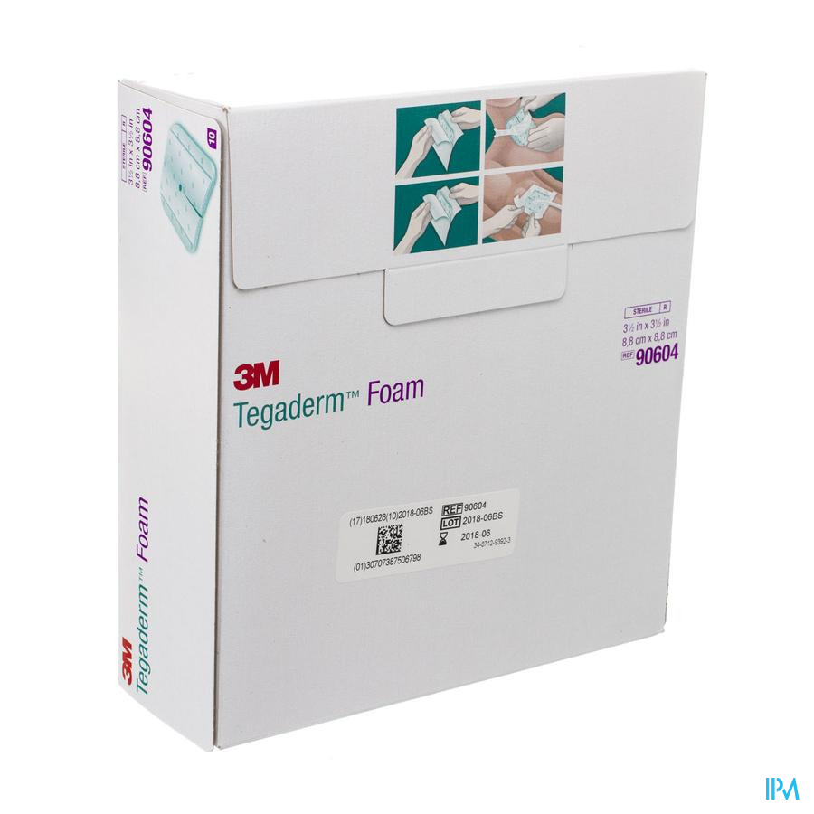 Tegaderm Foam 8,8x8,8 cm 10 stuks